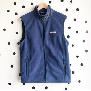 Vineyard Vines Men's Fleece Harbor Vest Navy Small